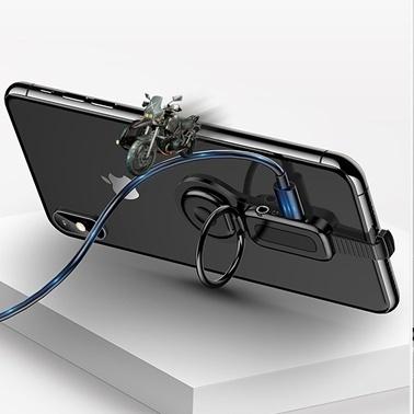 Lopard Apple iPhone 3.5Mm Kulaklık + Şarj Çevirici Adaptör Konnektör Stand Renkli